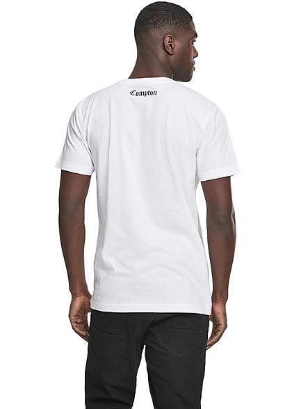 Mister Tee Herren T-Shirt COMPTON Print weiss