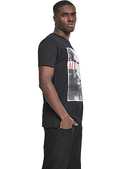 Mister Tee Herren T-Shirt 2Pac All Eyez on me Print schwarz