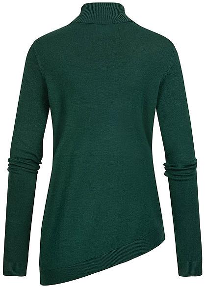 Seventyseven Lifestyle Damen Rollkragen Pullover Longsleeve dunkel grün
