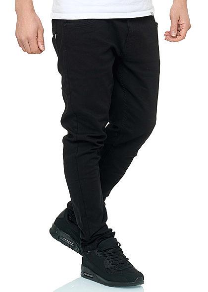 Hailys Herren Jeans Hose 5-Pockets schwarz denim