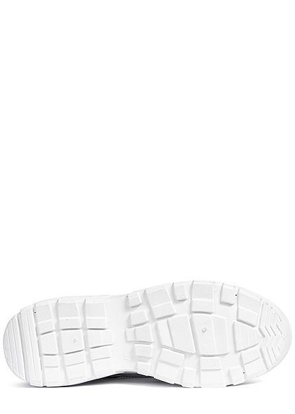 Zabaione Damen Schuh Chunky Sneaker Metallic Optik hell grau silber