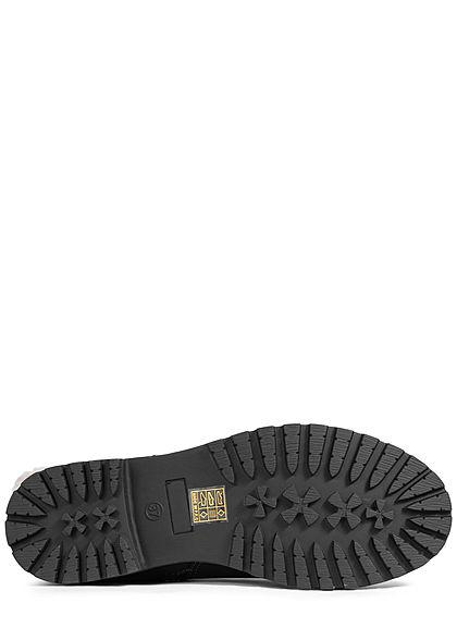 Seventyseven Lifestyle Damen Schuh Halbstiefel Zipper Kunstleder schwarz