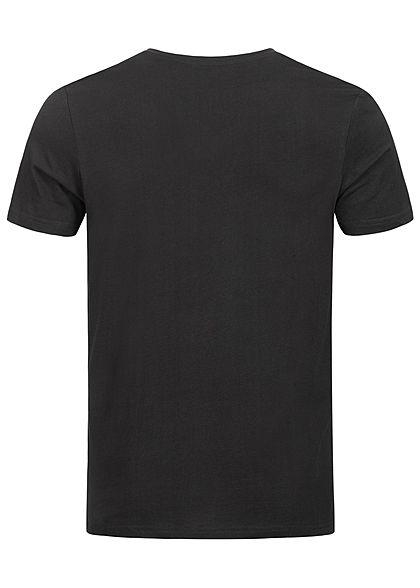 Tom Tailor Herren 2er-Set Basic V-Neck T-Shirt schwarz