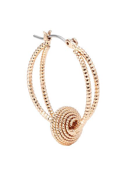 ONLY Damen 2er-Set Hoop Ohrringe gold