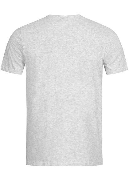 Eight2Nine Herren Basic T-Shirt Brusttasche hell grau