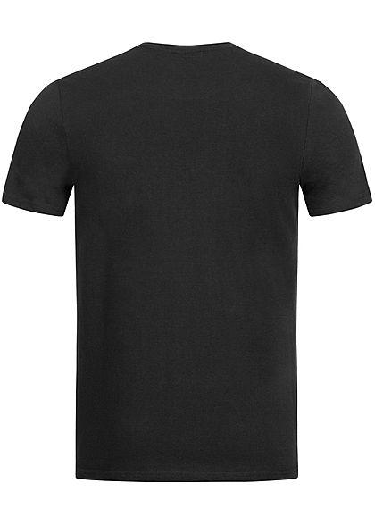 Eight2Nine Herren Basic T-Shirt Brusttasche schwarz