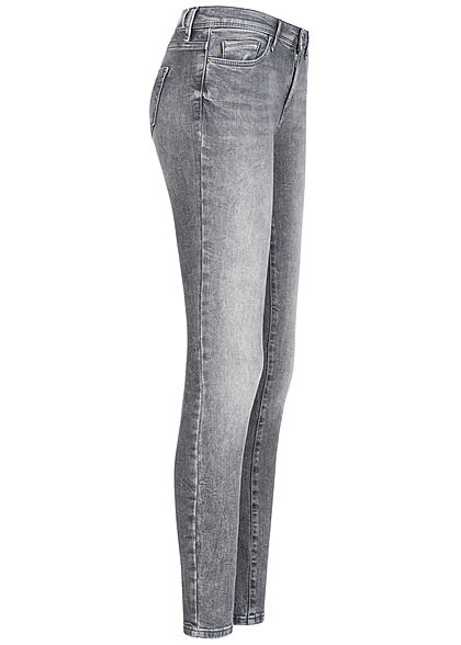 ONLY Damen NOOS Shape Up Skinny Jeans Hose 5-Pockets Regular Waist med. grau denim