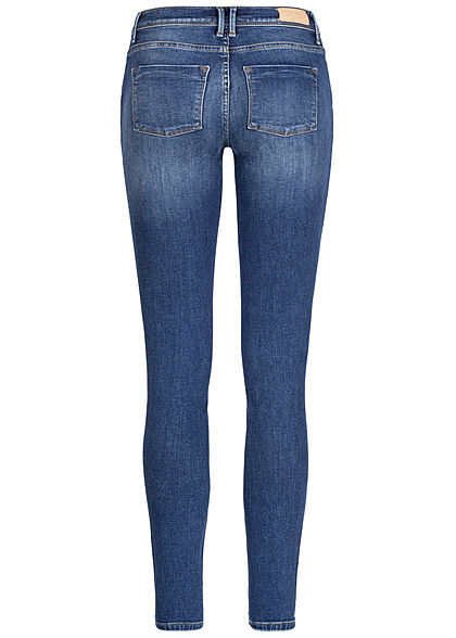 ONLY Damen NOOS Shape Up Skinny Jeans Hose 5-Pockets Regular Waist med. blau denim