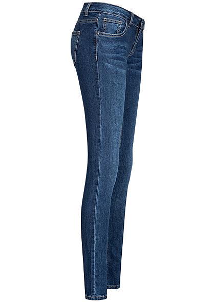 Seventyseven Lifestyle Damen Skinny Jeans 5-Pockets Low Waist dunkel blau denim