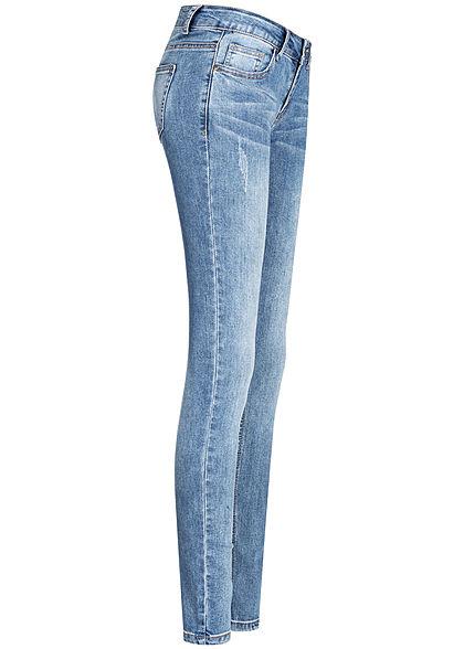 Seventyseven Lifestyle Damen Skinny Jeans 5-Pockets Low Waist medium blau denim