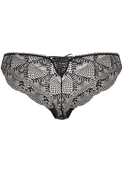 Seventyseven Lingerie Damen 2er-Set Brazilian Slips schwarz