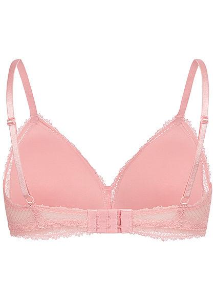 Seventyseven Lingerie Damen Bralette Bustier BH leichte Wattierung hell rosa