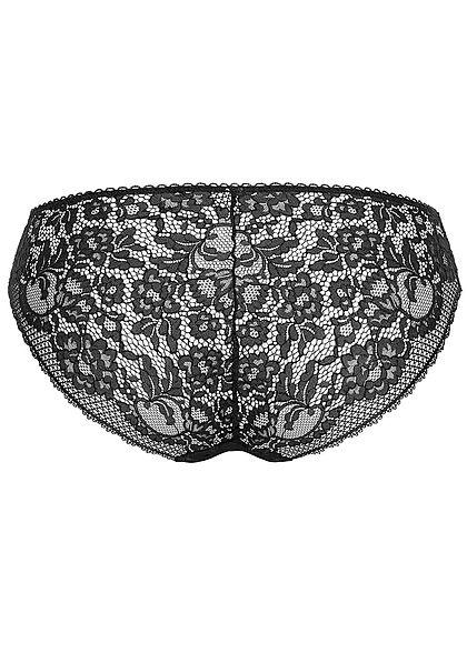 Seventyseven Lingerie Damen 2er-Set Spitzen Hipster Mini Slips schwarz