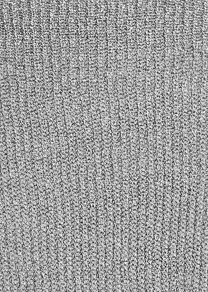 Seventyseven Lifestyle Damen Lurex V-Neck Sweater grau