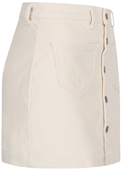 ONLY Damen NOOS Cord Rock 2-Pockets Knopfleiste whitecap gray off weiss