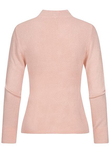 ONLY Damen High-Neck Pullover smoke rosa