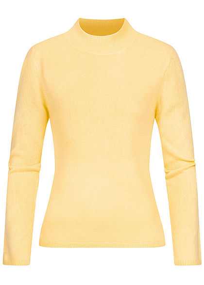 ONLY Damen High-Neck Pullover pineapple slice gelb
