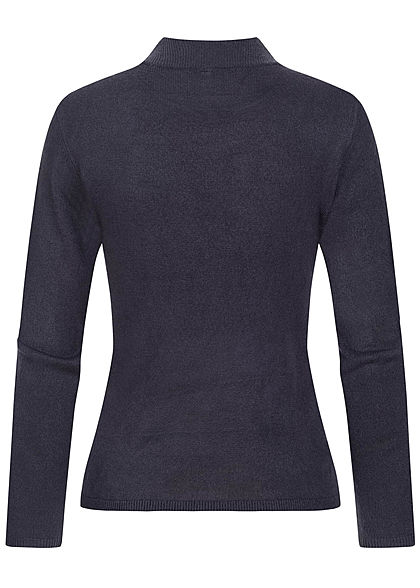 ONLY Damen High-Neck Pullover night sky navy blau