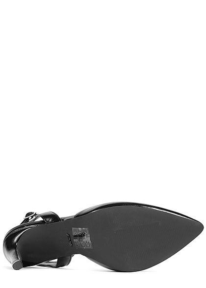 ONLY Damen Schuh Pump Sandale Absatz 10cm Kunstleder schwarz