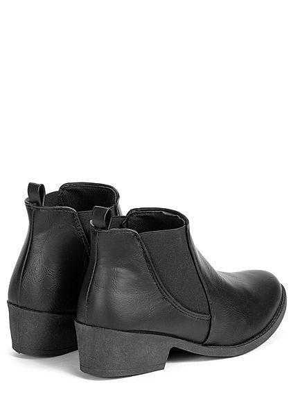 Seventyseven Lifestyle Damen Schuh Chelsea Boots Kunstleder Stiefelette schwarz