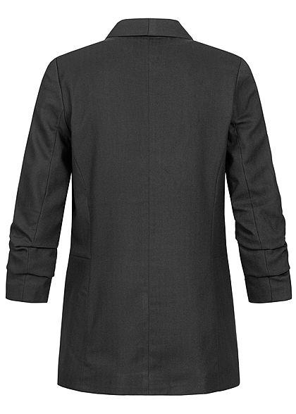 ONLY Damen 4/5 Arm Blazer 2-Pockets offener Schnitt schwarz