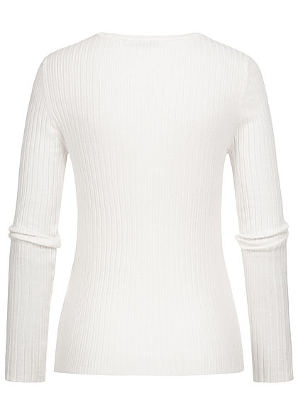 ONLY Damen NOOS Ribbed Pullover cloud dancer weiss