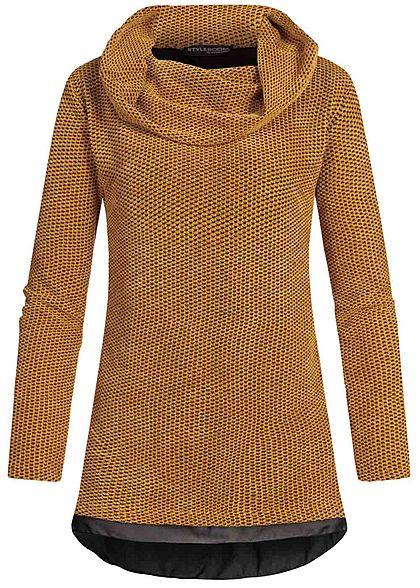 Hailys Damen Colorblock Sweater Teddyfell rose