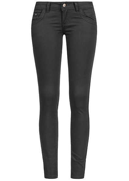 Seventyseven Lifestyle Damen Skinny Jeans 5-Pockets Low Waist schwarz denim