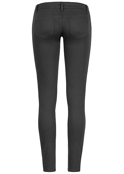 Seventyseven Lifestyle Damen Skinny Jeans 5-Pockets Low Waist schwarz denim