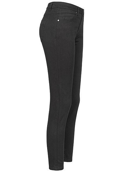 Seventyseven Lifestyle Damen Skinny Jeans 5-Pockets schwarz