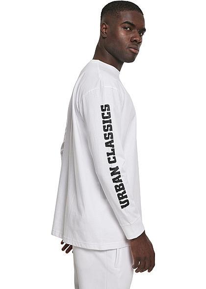 Seventyseven Lifestyle TB Herren Longsleeve Brusttasche Logo Print weiss schwarz