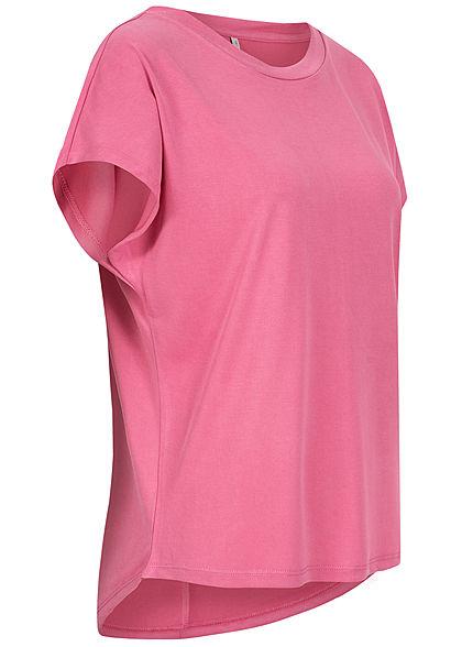 ONLY Damen NOOS Oversized O-Neck T-Shirt ibis rose pink