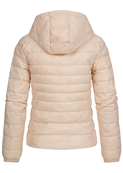 ONLY Damen NOOS leichte Nylon Steppjacke Kapuze 2-Pockets frosted almond beige