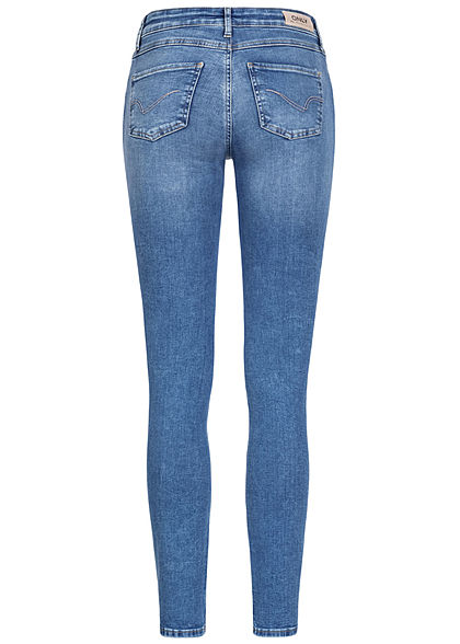 ONLY Damen NOOS Skinny Jeans Hose 5-Pockets Regular Waist hell blau denim