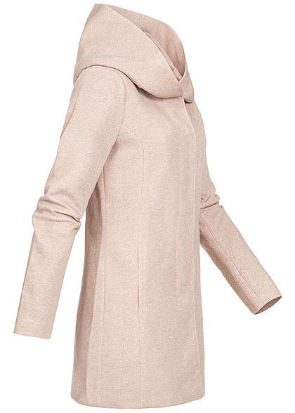 ONLY Damen NOOS Light Coatigan 2-Pockets Kapuze etherea beige