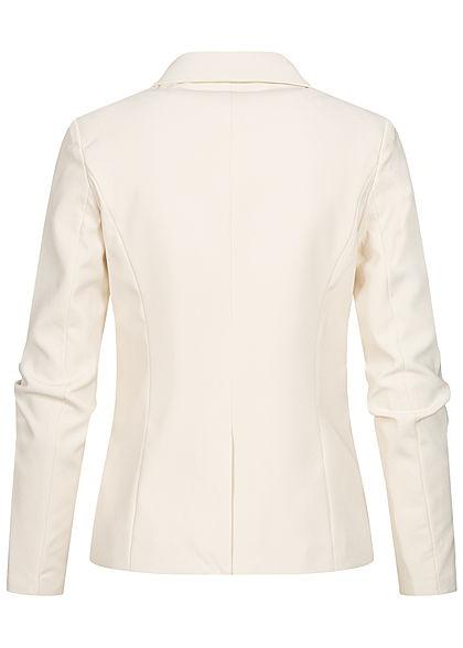 ONLY Damen Fitted Blazer 2-Pockets whitecap gray beige