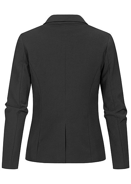 ONLY Damen Fitted Blazer 2-Pockets Schulterpolster schwarz