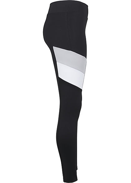 Seventyseven Lifestyle TB Damen Colorblock Leggings schwarz grau weiss