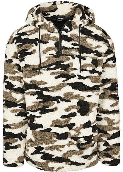 Seventyseven Lifestyle TB Herren Sherpa Pull Over Jacke Camouflage Design wood camo