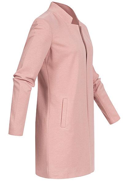 ONLY Damen Übergangs Coatigan Blazer 2-Pockets offener Schnitt tan rose melange
