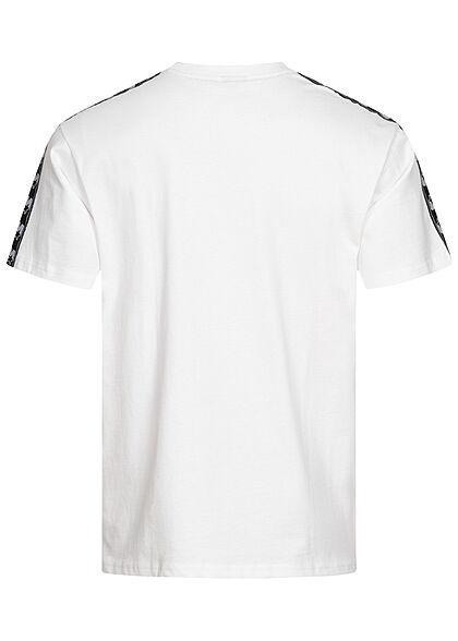 Starter Herren T-Shirt Logo Tape seitlich weiss schwarz