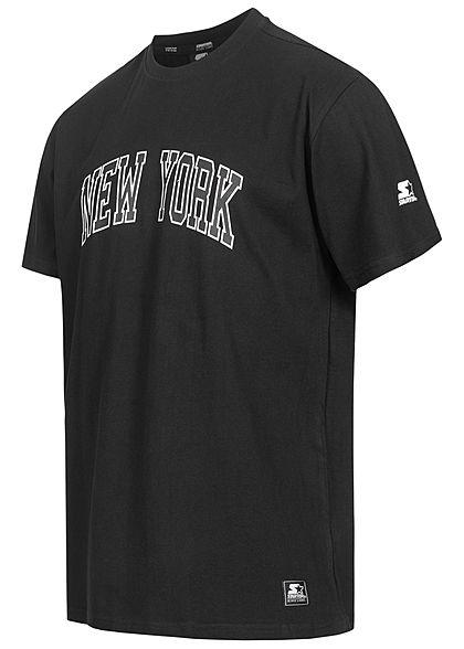 Starter Herren T-Shirt NEW YORK Print schwarz