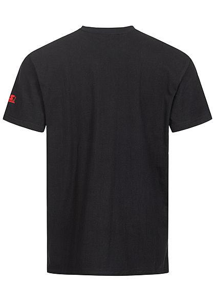 Starter Herren T-Shirt Logo Frontprint schwarz grau