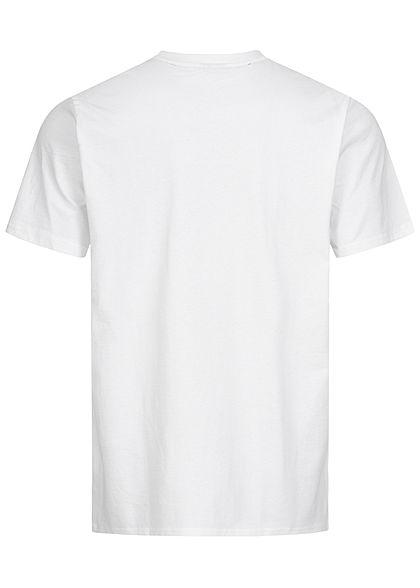 Starter Herren T-Shirt Logo Frontprint weiss grau