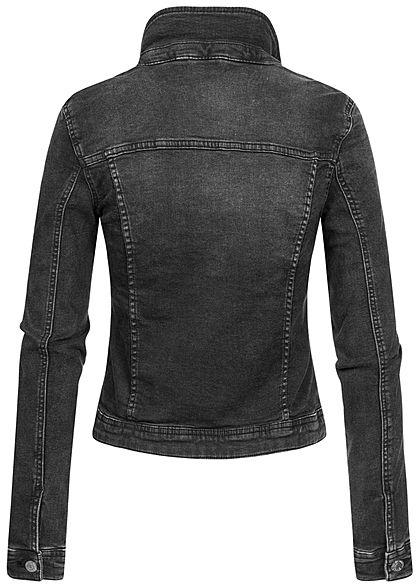ONLY Damen NOOS Jeans Jacke 4-Pockets schwarz washed denim