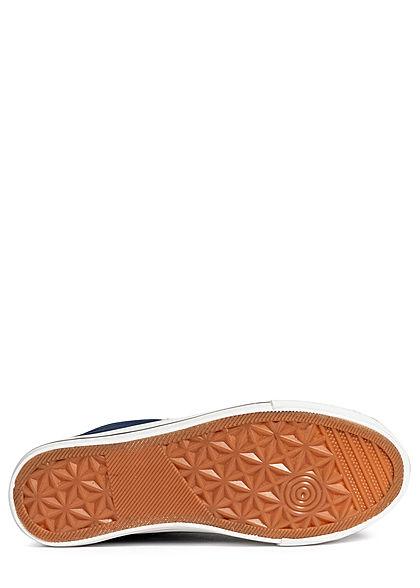 Seventyseven Lifestyle Damen Schuh High Canvas Sneaker navy blau weiss