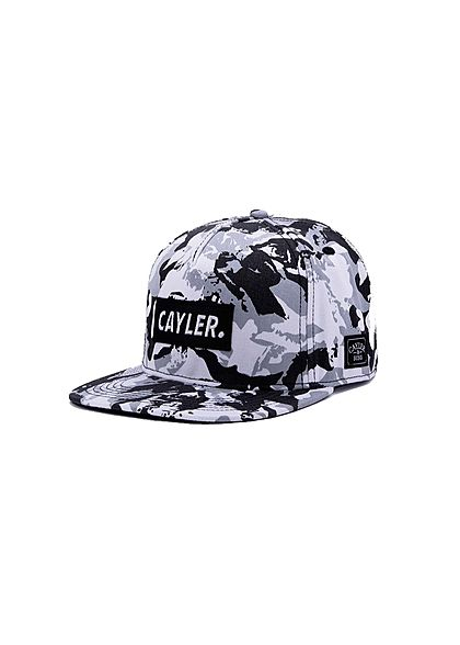 CAYLER & SONS TB Snapback Cap Cayler Patch Camouflage Print snow camo schwarz