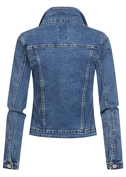 Seventyseven Lifestyle Damen Jeans Jacke 4-Pockets blau denim
