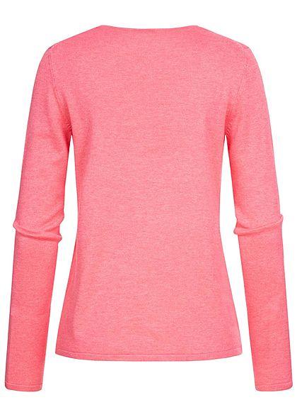 TOM TAILOR Damen Basic V-Neck Pullover charming pink melange