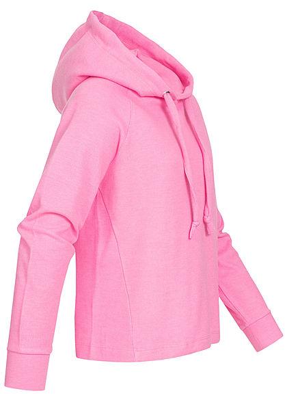 TOM TAILOR Damen Soft-Touch Struktur Hoodie Kapuze wild orchid pink